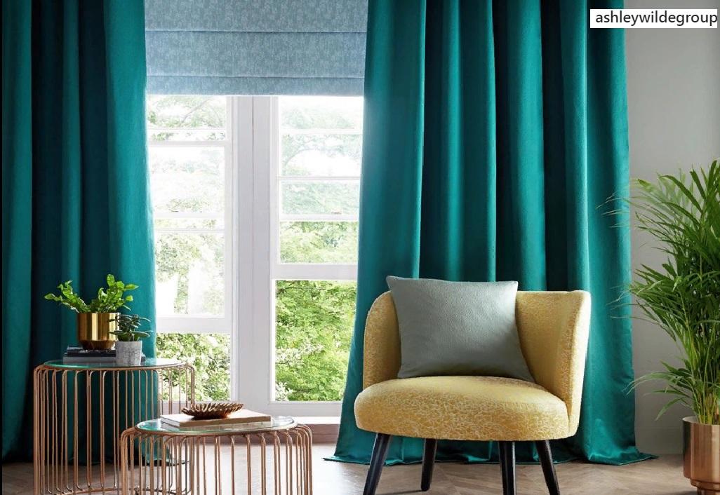 Однотонные стильные шторы