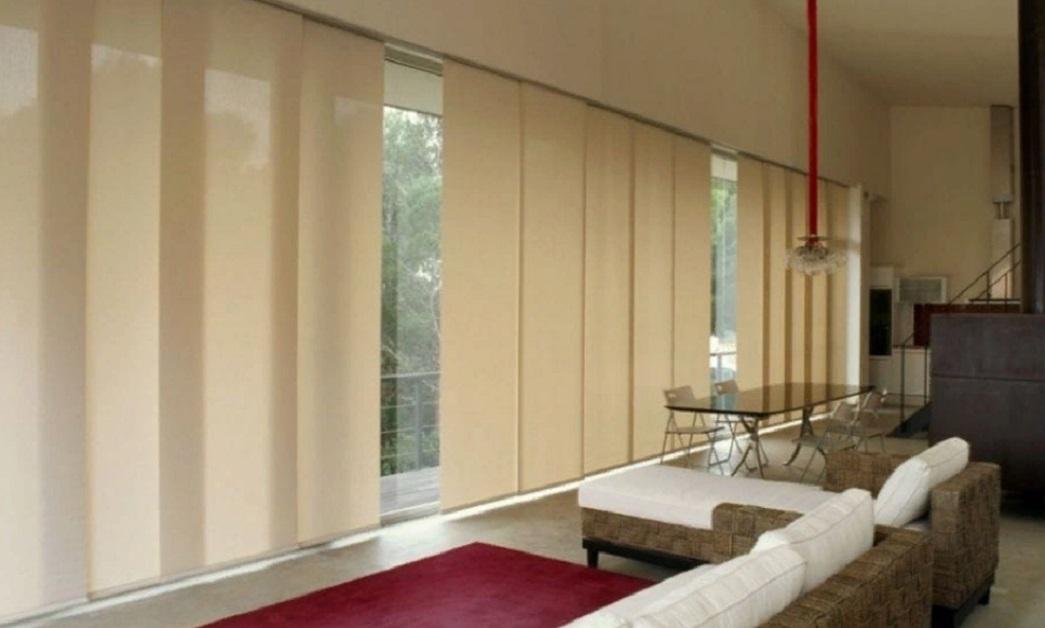 японская штора в интерьере